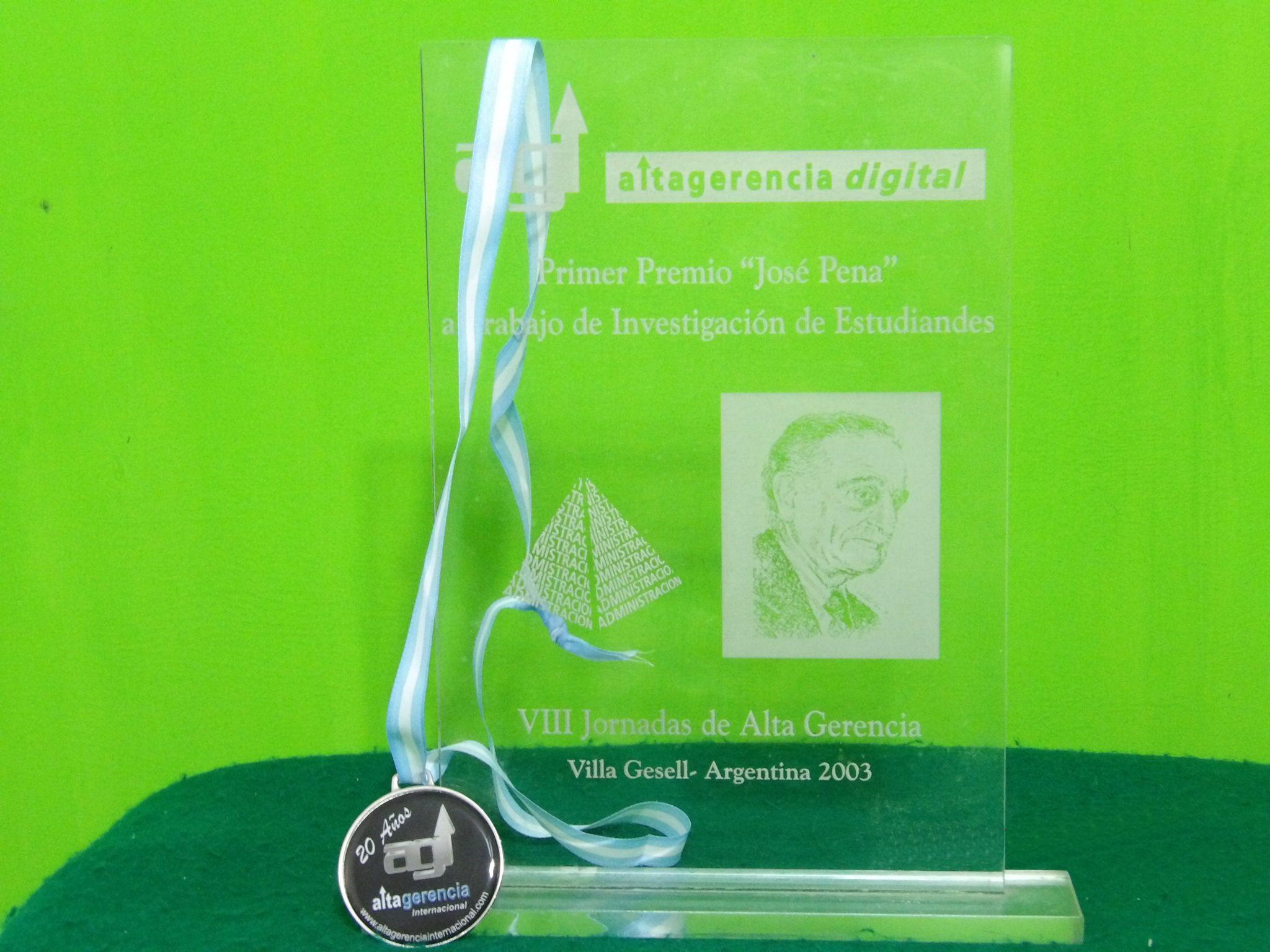 premio jose pena alta gerencia internacional