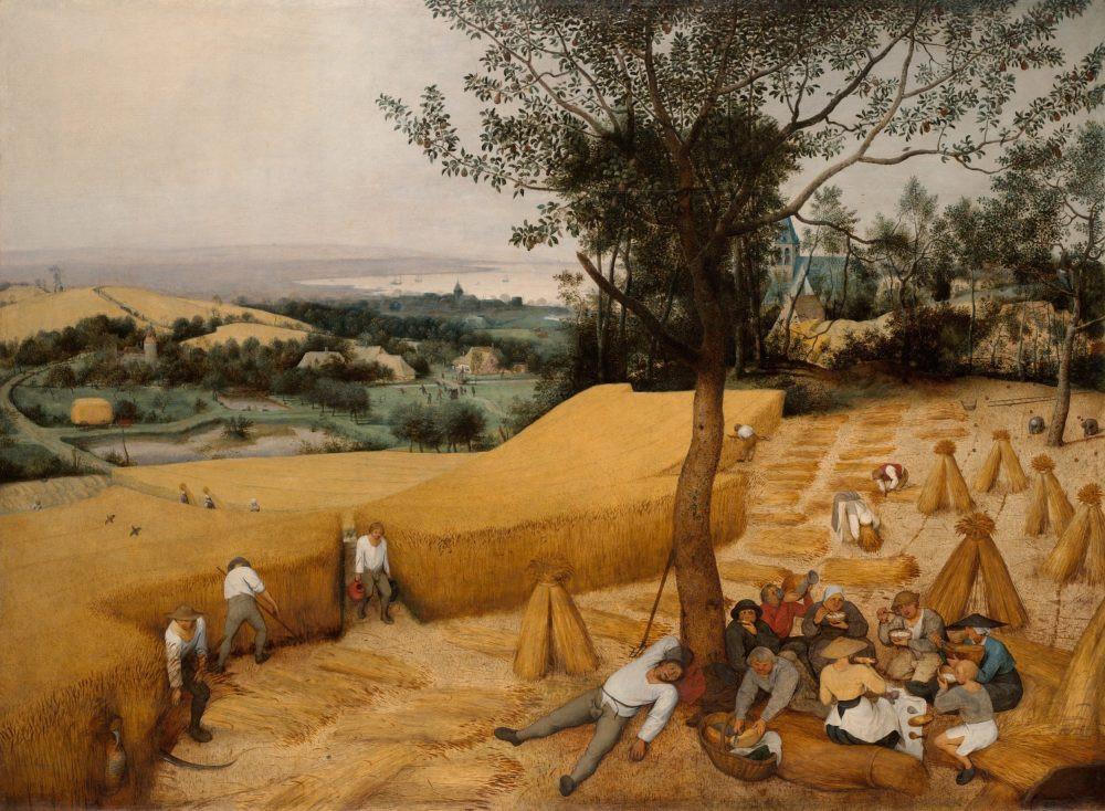 """""""Os Colhedores"""" (1565) - Pieter Bruegel. Foto: Everett - Art / Shutterstock.com"""