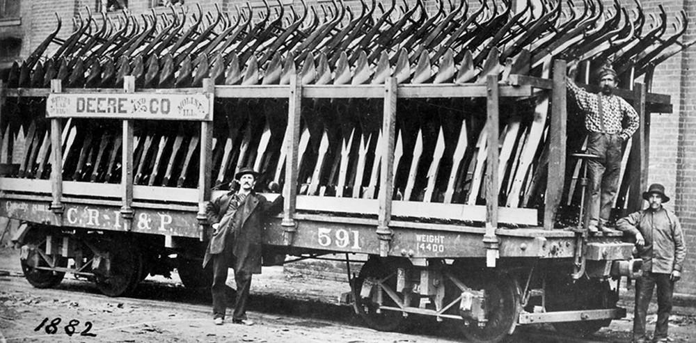 """""""O arado de aço.""""  Foto: Divulgação/John Deere"""