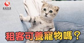 租客可養寵物嗎?