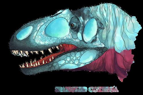 "Allosaurus, ""Spangled Cotinga"""