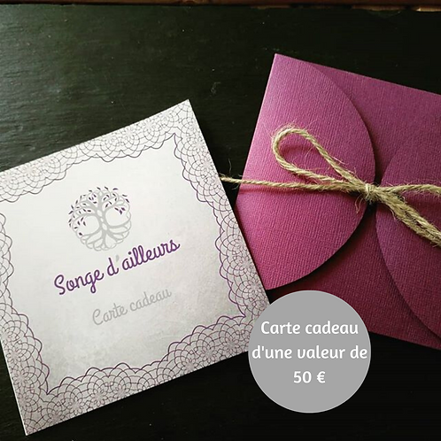 Carte cadeau valeur 50€