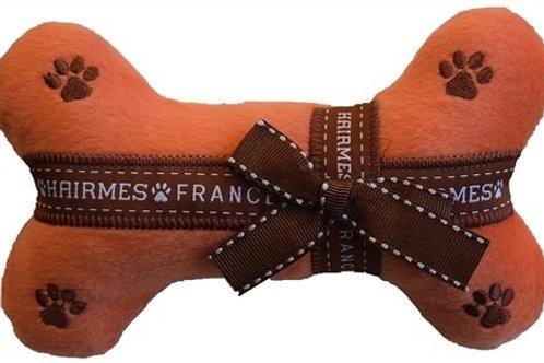 Hermes France Plush Dog Bone
