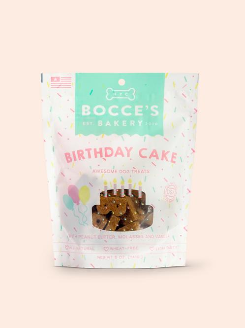 Bocce's Bakery Birthday Peanut Butter, Molasses & Vanilla Cake Dog Treats, 5-oz