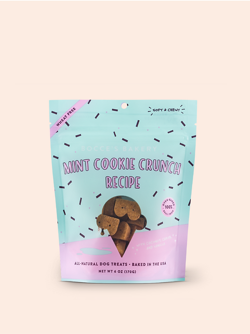 Bocce's Bakery Mint Cookie Crunch Recipe Dog Treats, 6-oz bag