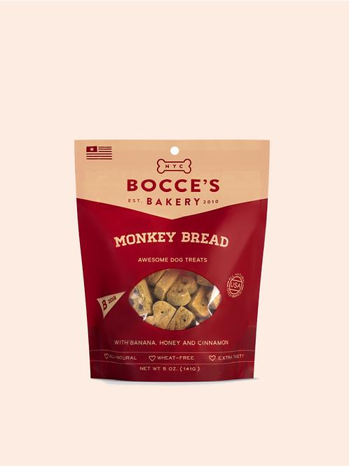 Bocce's Bakery Monkey Bread Banana, Honey & Cinnamon Dog Treats, 5-oz bag