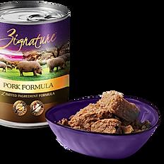 Zignature Pork Limited Ingredient Formula Grain-Free Canned Dog Food, 13-oz