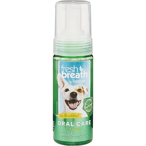 TropiClean Fresh Breath Mint Foam for Dogs & Cats, 4.5-oz bottle