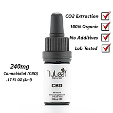 240mg Full Spectrum CBD Oil, High Grade Hemp Extract (50mg/ml)