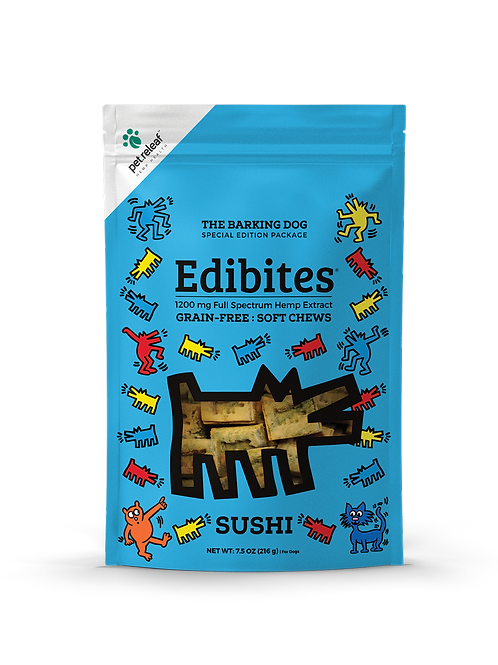 Pet Relief Edibites Sushi 60 mg active