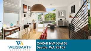 Sunny, spacious, stand-alone home in the heart of Ballard that offers elegance, efficiency and amazing views of Rainier, Cascades and downtown from the large rooftop deck