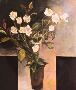 Claire, White Roses