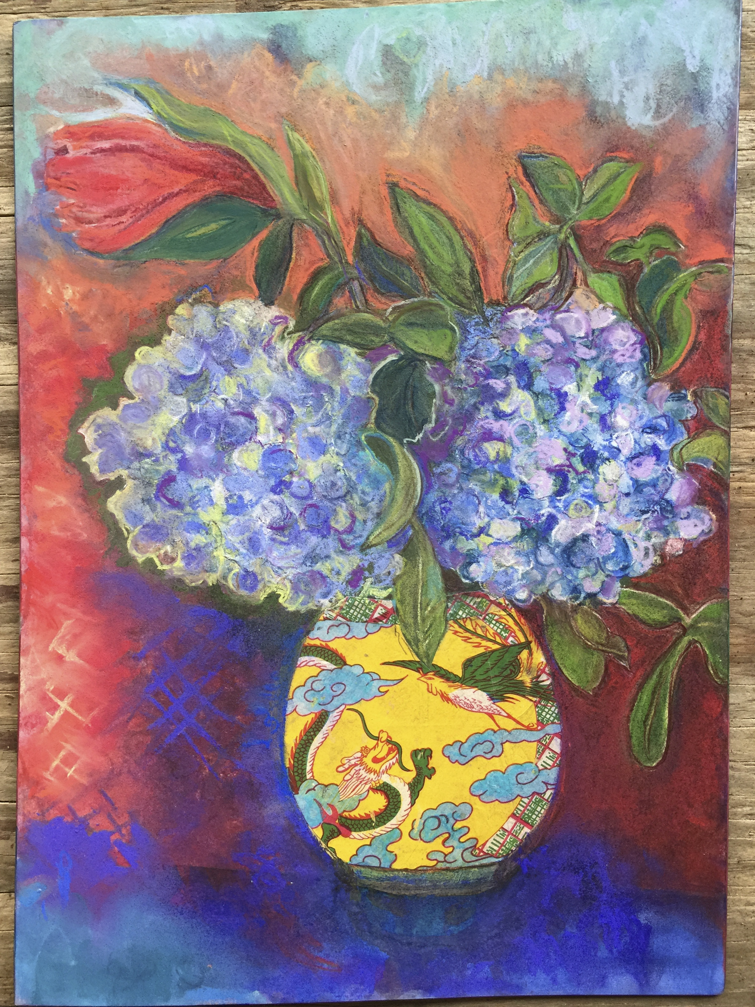 Hyacinths in Chinese Vase