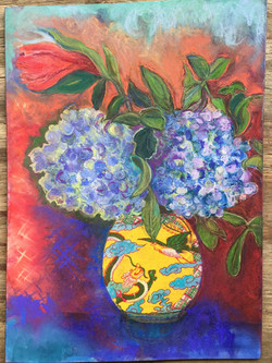Hyacinths in Chinese Vase