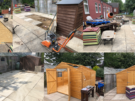 Skill Mill Leeds: Youth Justice Centre Shed Build & Paving