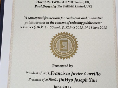Skill Mill Director brings home 'Outstanding Paper Award'