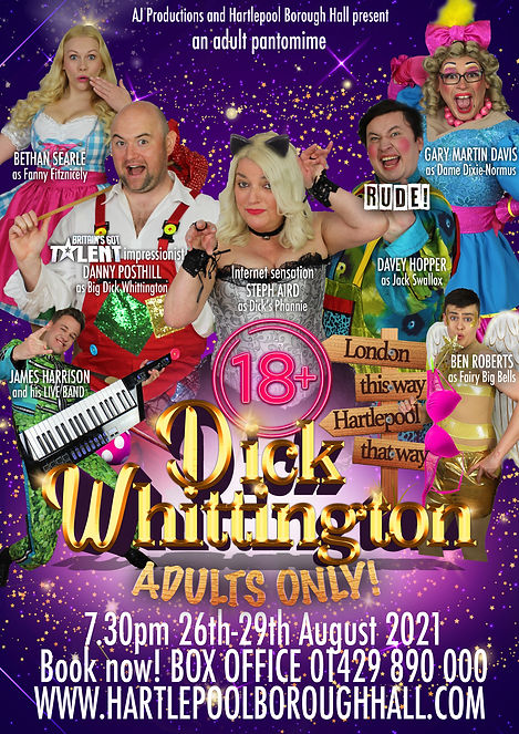 Big Dick Whittington 2021 poster NO KING