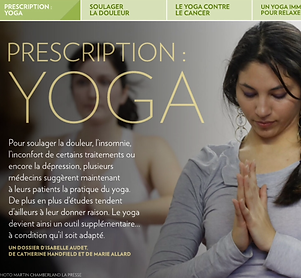 Yogi Urbain | La Presse Prescription Yoga