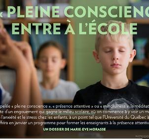 Mélanie Primeau Méditation pleine conscience à l'école