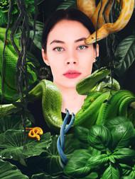 Conceptual_Model_Portrait_Snakes_Jungle_Brazil