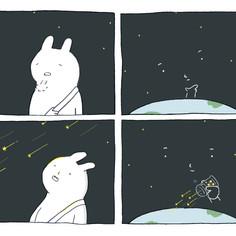 流星雨的夜
