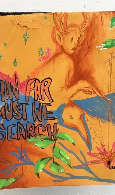 """ how far must we search_ "" June Pollen"