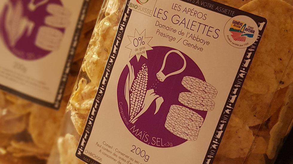Galettes apéro maïs sel Bio
