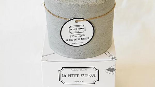 """Bougie béton """"Le Parfum du Bonheur"""""""