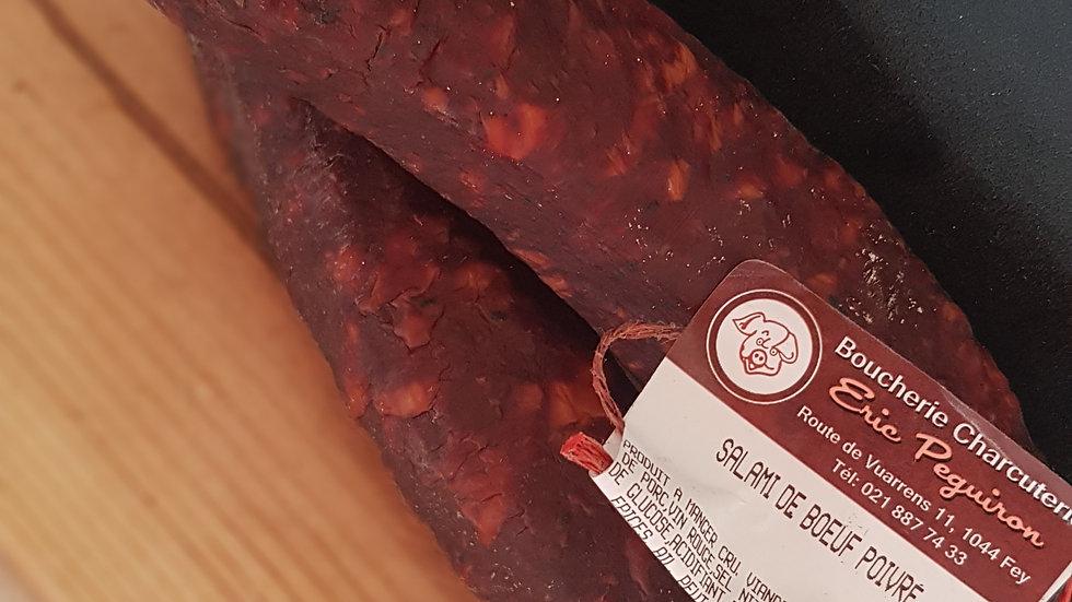 Salami de boeuf au poivre