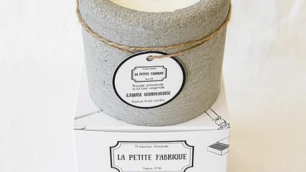 "Bougie béton ""Exquise Gourmandise"""