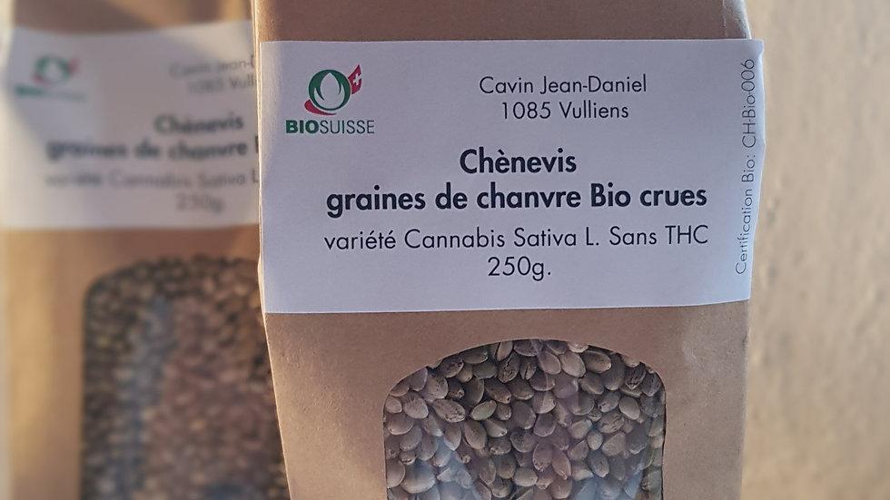 Chènevis Graines de chanvre Bio crues 250 g