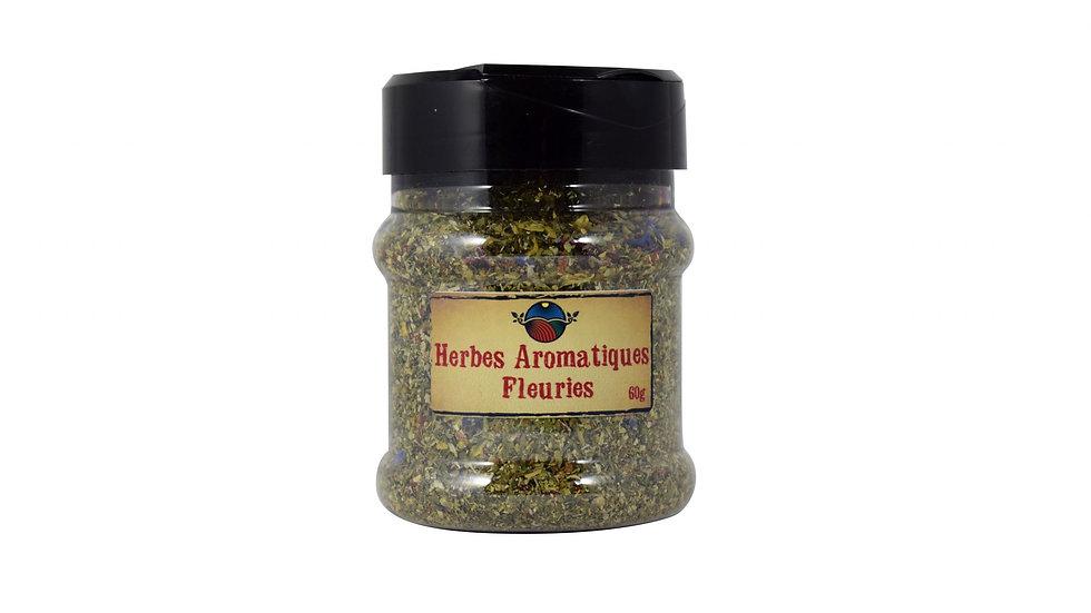 Bocal d'Herbes Aromatiques Fleuries