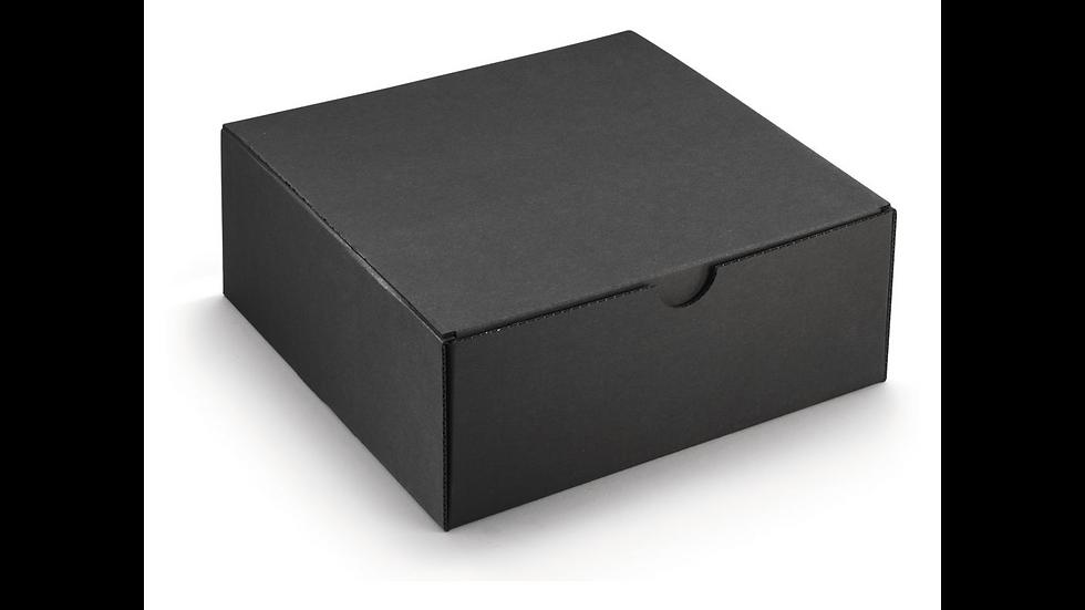 Coffret noir micro-cannelure