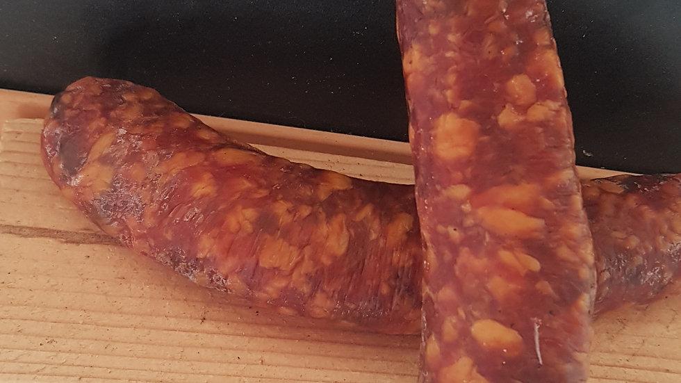 Saucisse sèche porc noisettes