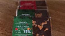 Chocolat au lait de Noël aux éclats de cacao caramelisé