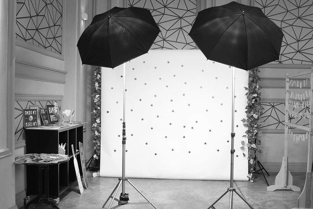 עמדת צילום לאירועים | מסך לבן לאירועים