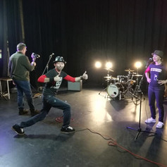 Shooting the video for 'All About Me'