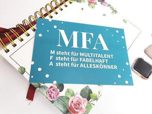 MFA Geschenkkarte