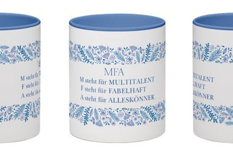 Geschenktasse für MFA Multitalent