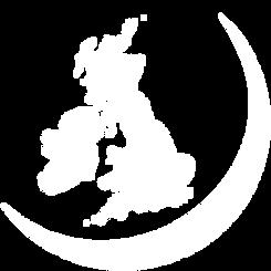 White Map of UK