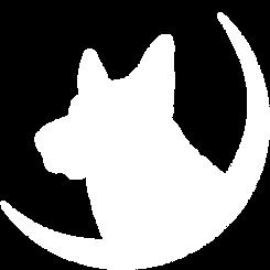 White Dog Silhouette