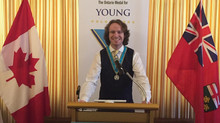 Langan Awarded the Ontario Medal for Young Volunteers