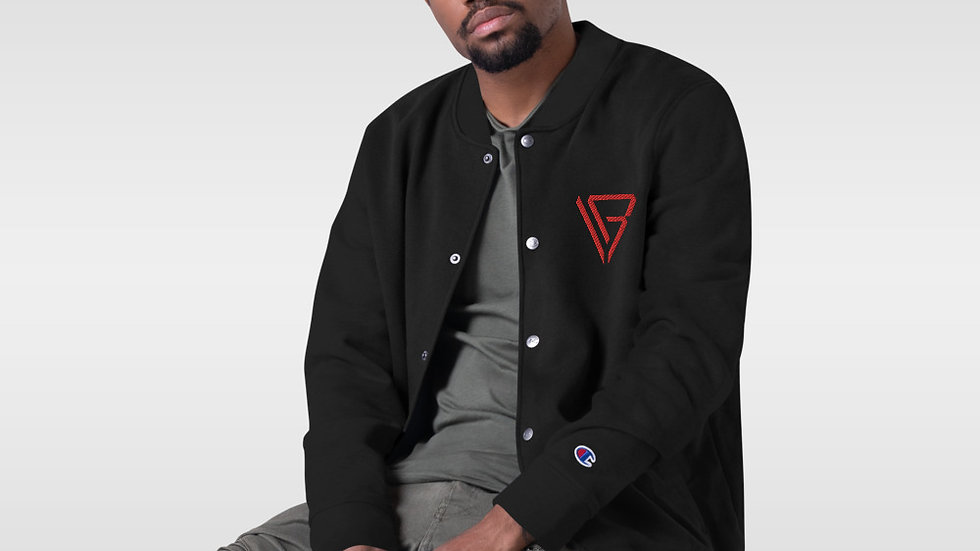 Von Base Enterprises Embroidered Drone Bomber Jacket