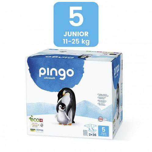 Pañales Ecológicos PINGO Talla 5 JUNIOR - Caja de 2X36
