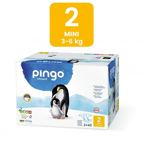 Pañales Ecológicos PINGO Talla 2 MINI - Caja de 2X42