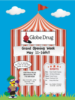 Globe Drug Grand Opening Print Ad
