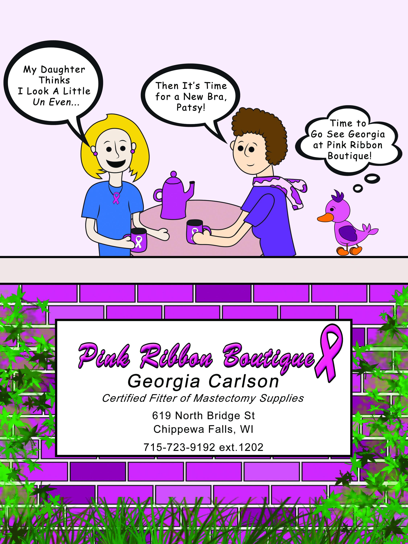 Pink Ribbon Boutique Print Ad