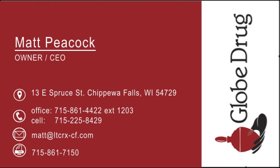 Business Card for Matt Peacock