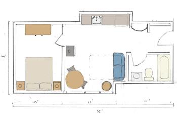 Cabin floor plan