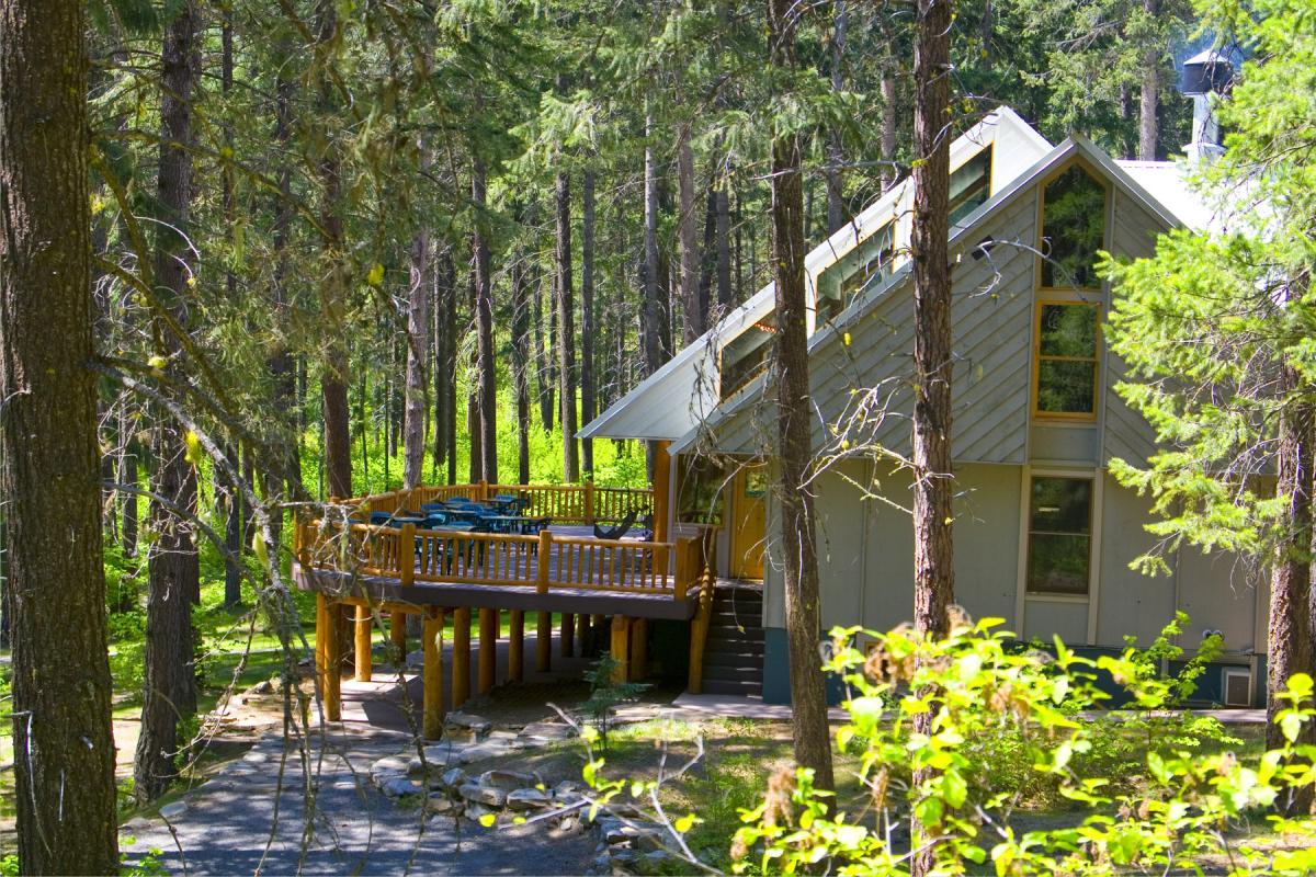 Family camp inside lodge